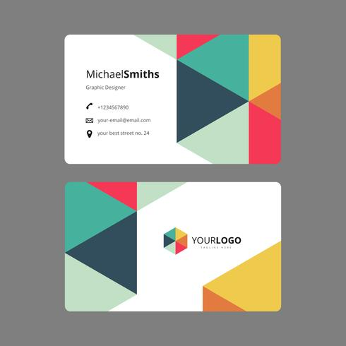 Graphic design business card template download vetores e grficos graphic design business card template reheart