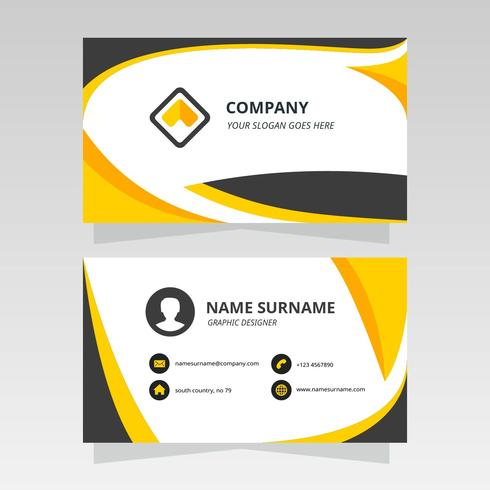 Simple Wavy Business Card for Graphic Design