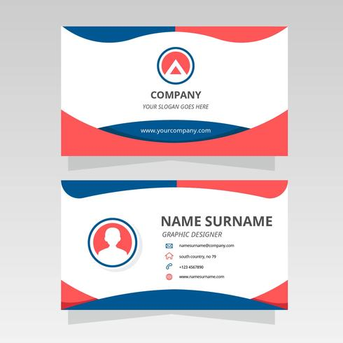 Modern Business Card for Graphic Designer Vector