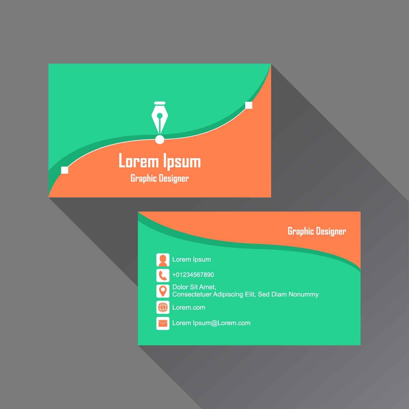 graphic design business card download free vector art