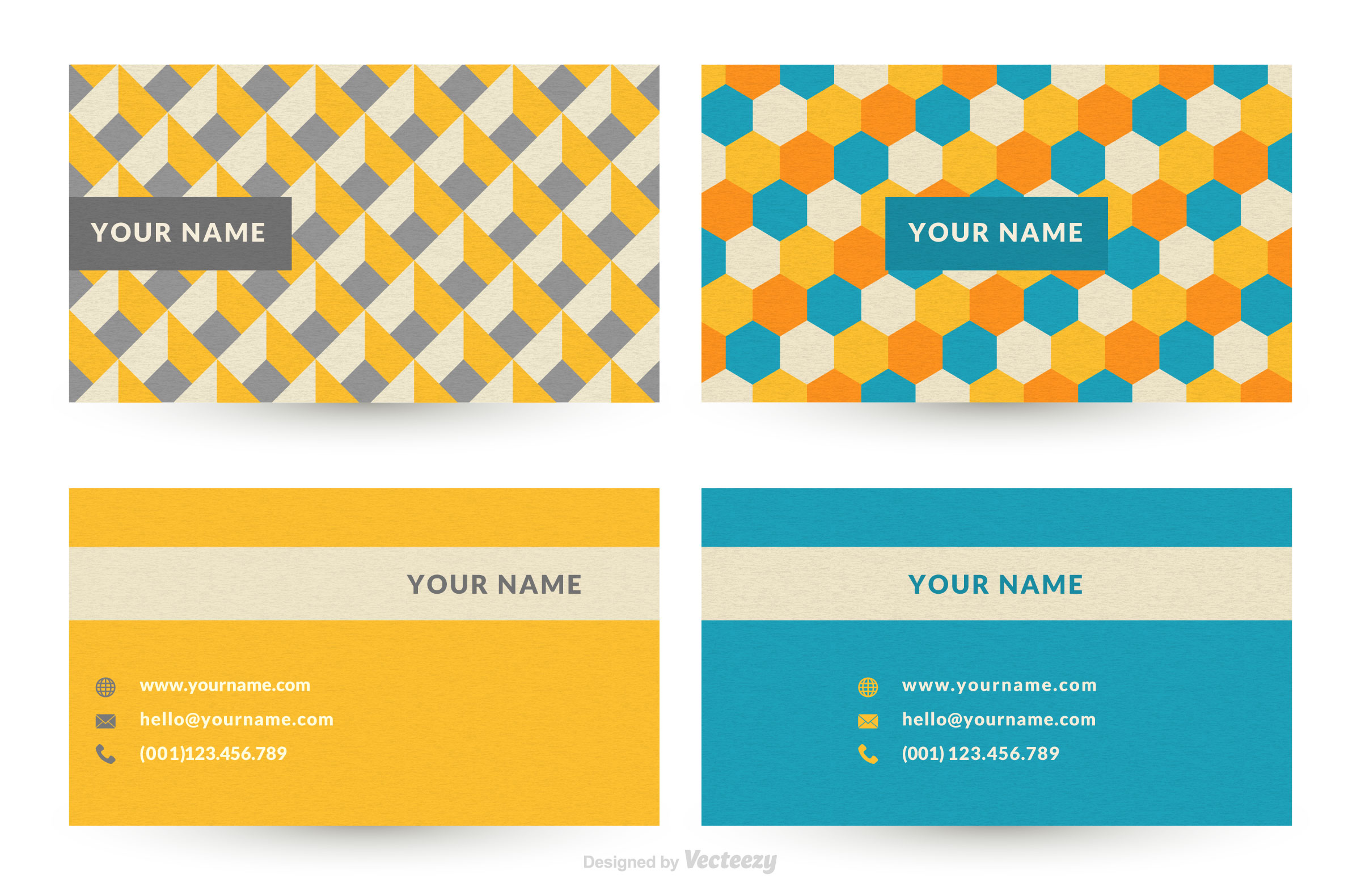 Geometric graphic design business card vector templates for Graphic design business card templates