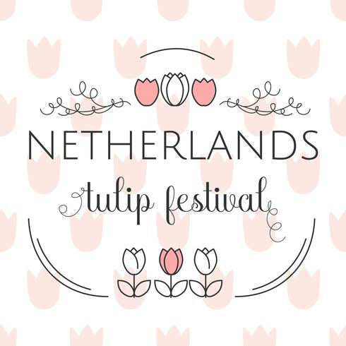 Netherlands Tulip Festival Template Vector - Download Free Vector Art, Stock Graphics & Images