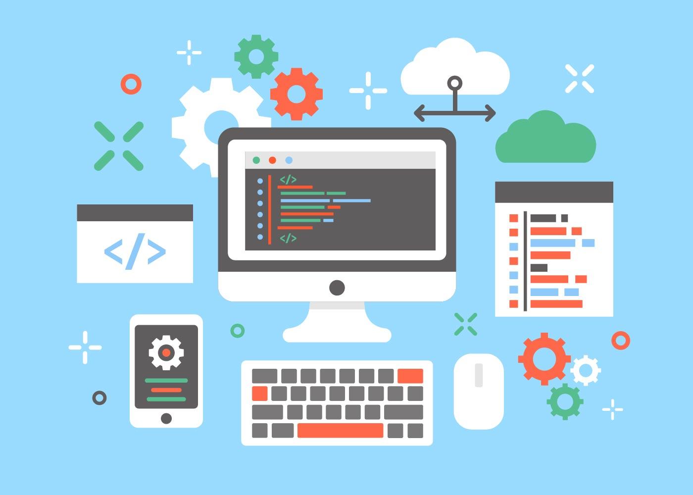 Engenheiros De Software Conceito Vetor De Design