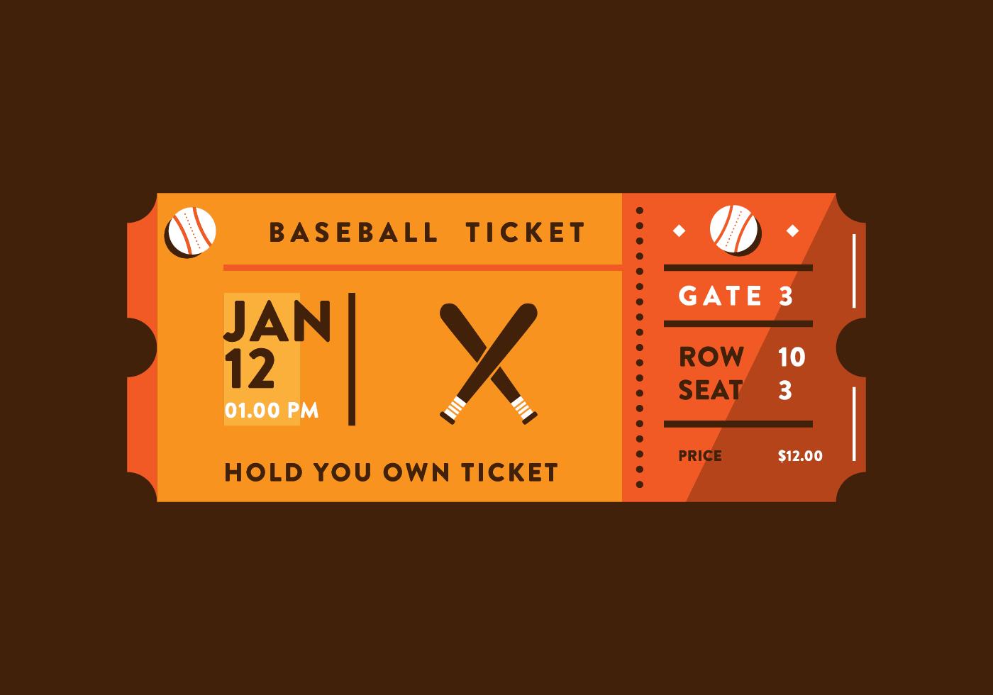 Sporting Event Ticket Vector Download Free Vectors