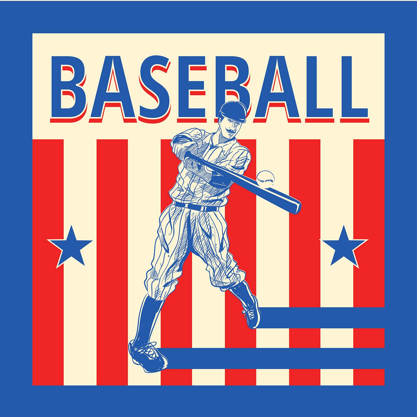 Vintage Baseball Vector - Download Free Vectors, Clipart ...