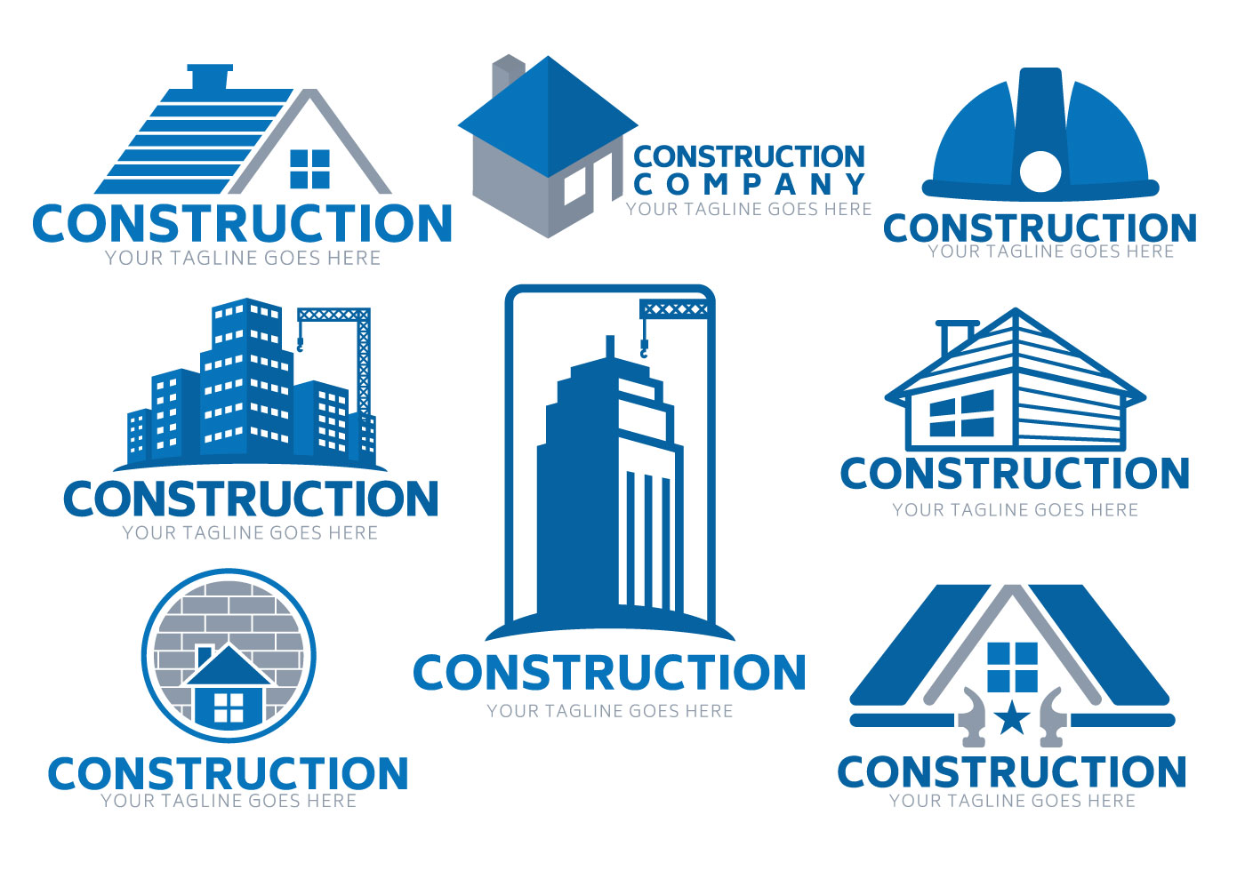 Construction logo vector - Download Free Vectors, Clipart Graphics & Vector Art