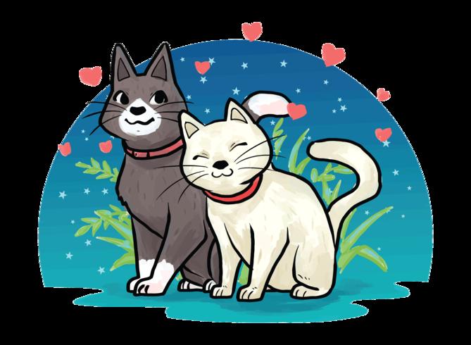 Creatures In Love vectorillustratie