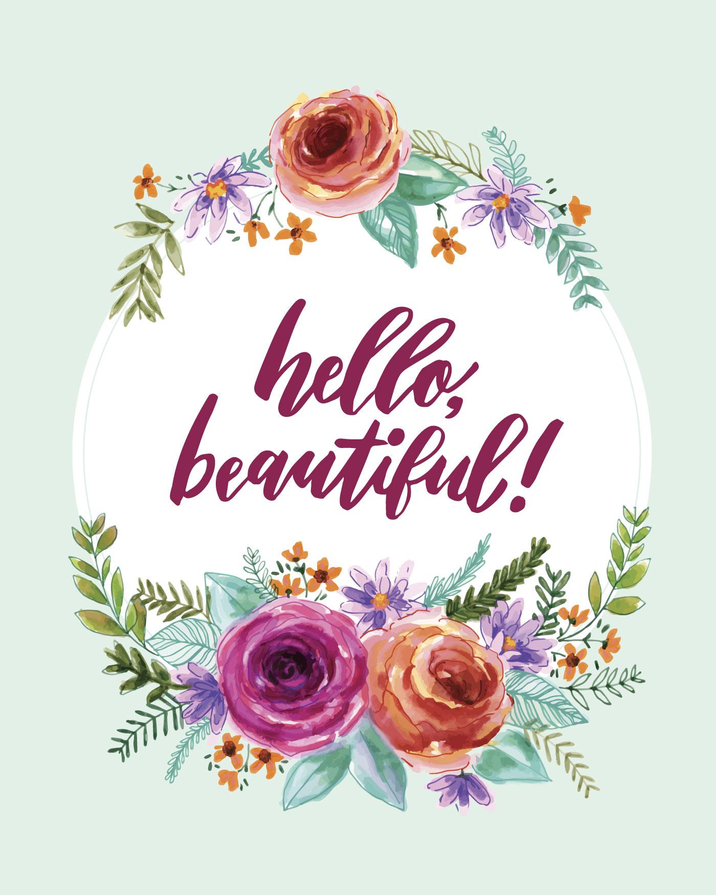 Hello, Beautiful! - Download Free Vectors, Clipart ...