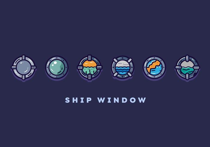 Free Ship Window Vector