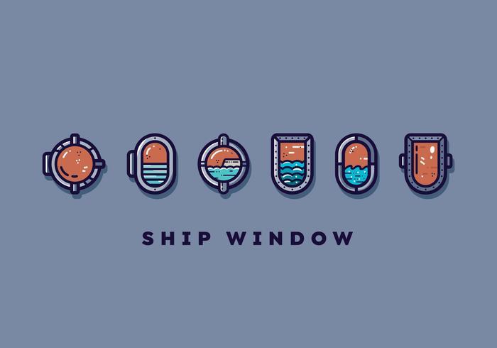Gratis schip venster Vector