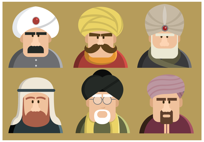 Sultan Characters Vector