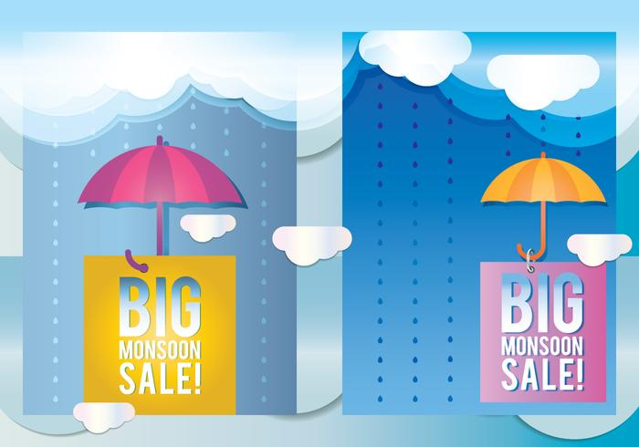 Monsoon Sale Season Poster - Download Free Vector Art, Stock Graphics & Images