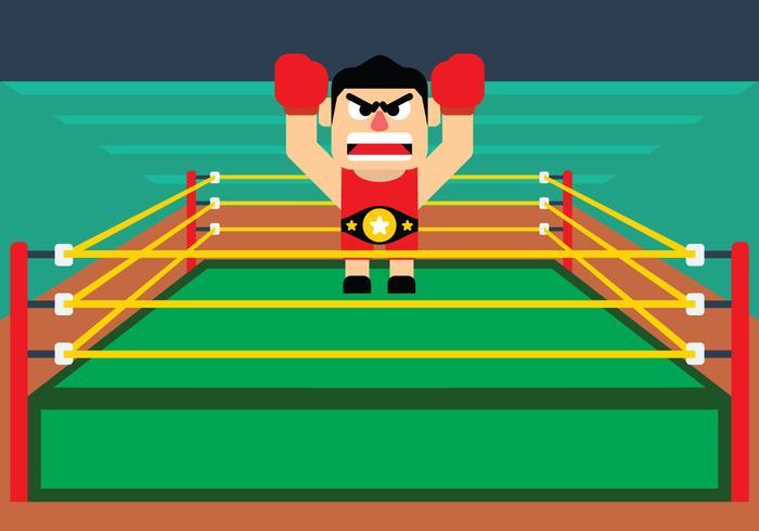 Boxer Holding Championship Belt