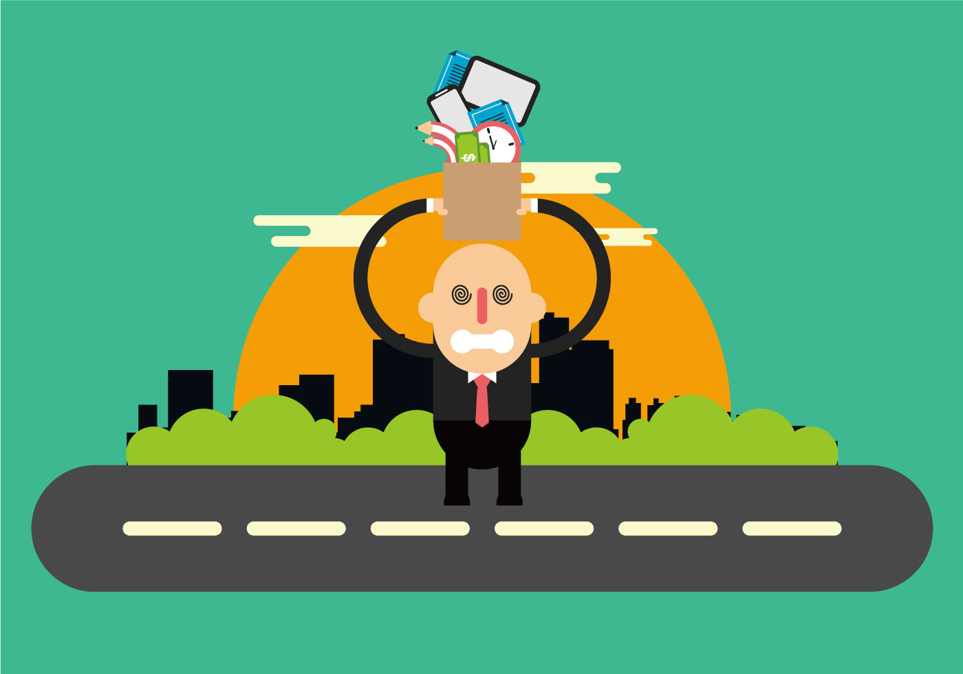 Business Man Stress About His Work - Download Free Vectors ...