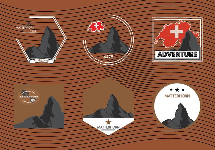 Matterhorn berg av Alperna