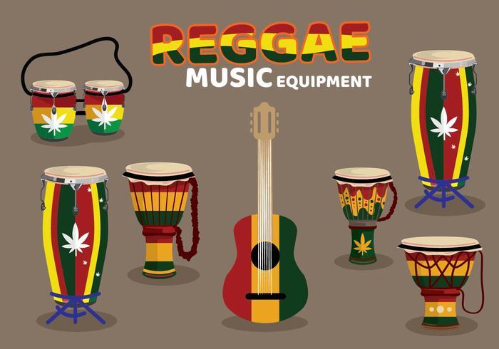 Équipement de musique Reggae personnalisé vecteur