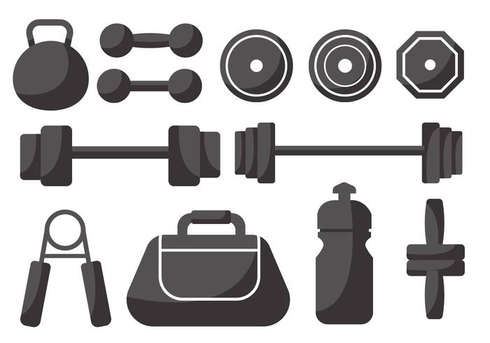 Weight Lifting Icons Vector