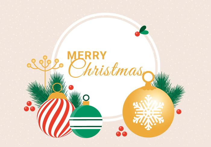 Free Flat Design Vector Winter Holiday Greeting Card