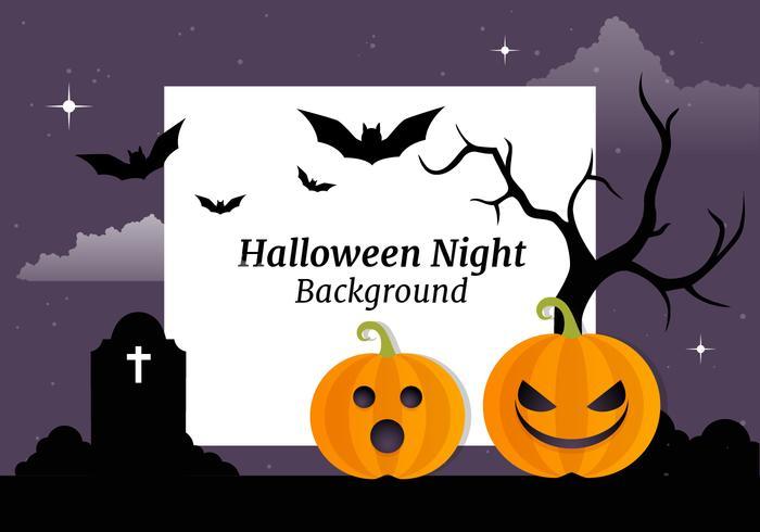 Kostenlose Halloween Vektor Hintergrund