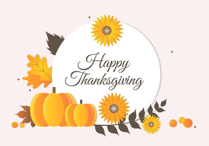 Gratis Höst Thanksgiving Vector Bakgrund