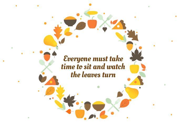 Autumn Thanksgiving Vector Background