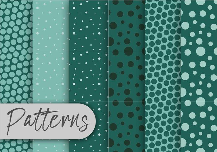 Cool Green Pattern Set