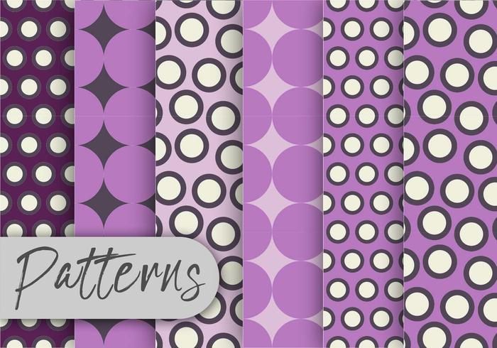 Patrón de puntos violeta