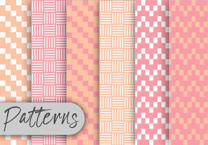 Conjunto de padrão geométrico rosa suave