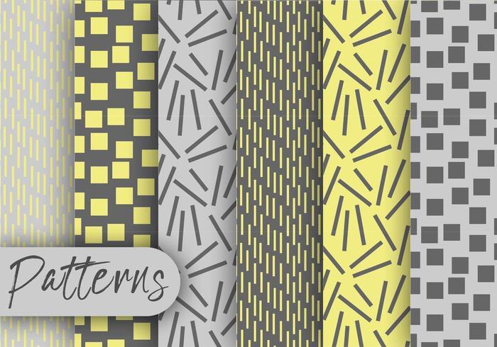 Yellow Gray Pattern Set