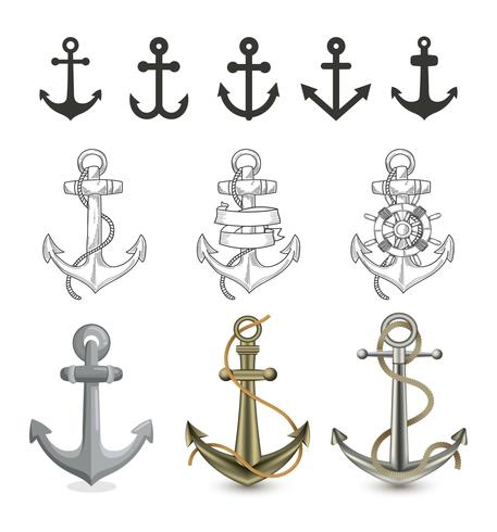 Different Style Of Anchor Illustration