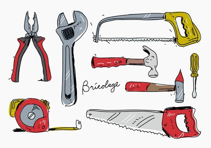 Bricolage Hand Drawn Vector Illustration