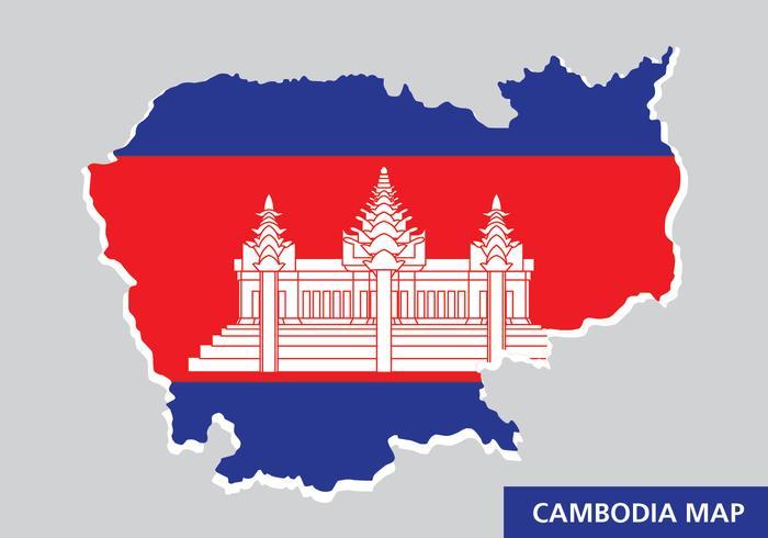 Kambodja Karta