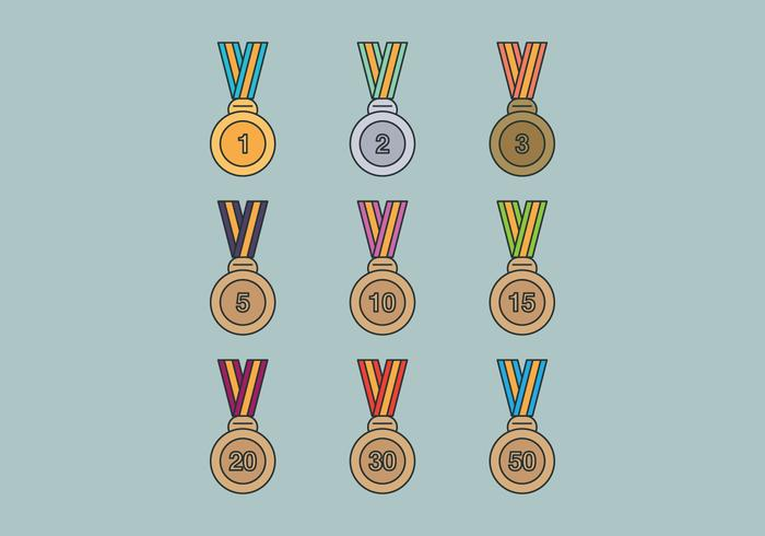 Set medailles