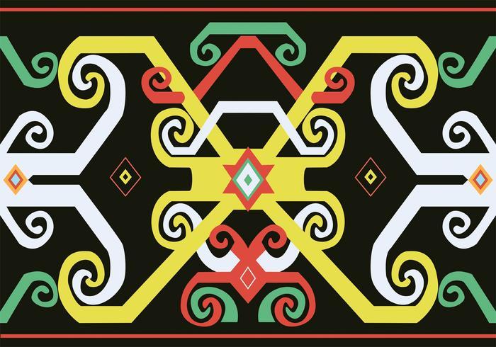 Dayak Pattern Design