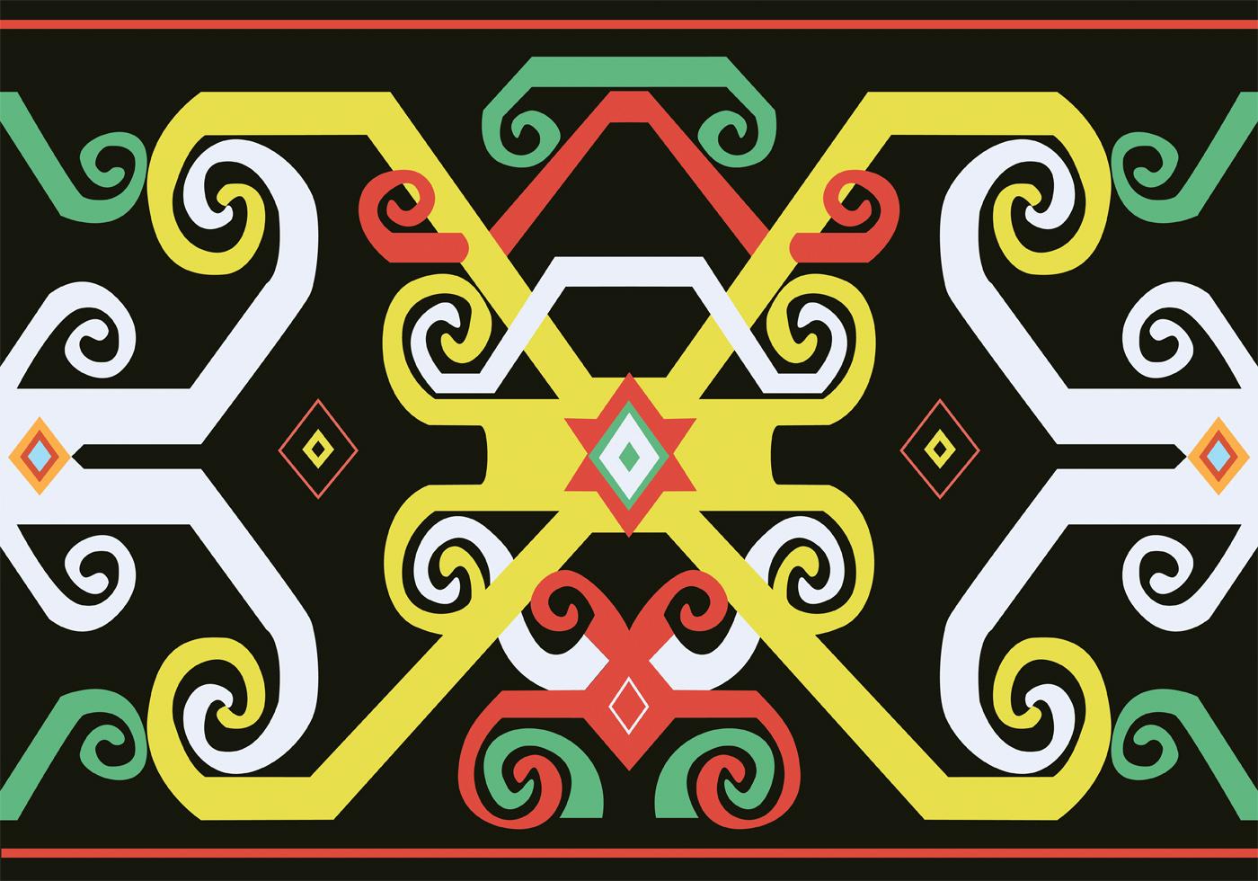 Batik Kalimantan Free Vector Art 96 Free Downloads