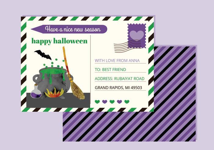 Vektor-Halloween-Postkarte