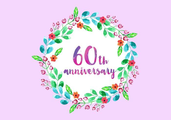 Free Vector 60th Years Anniversary