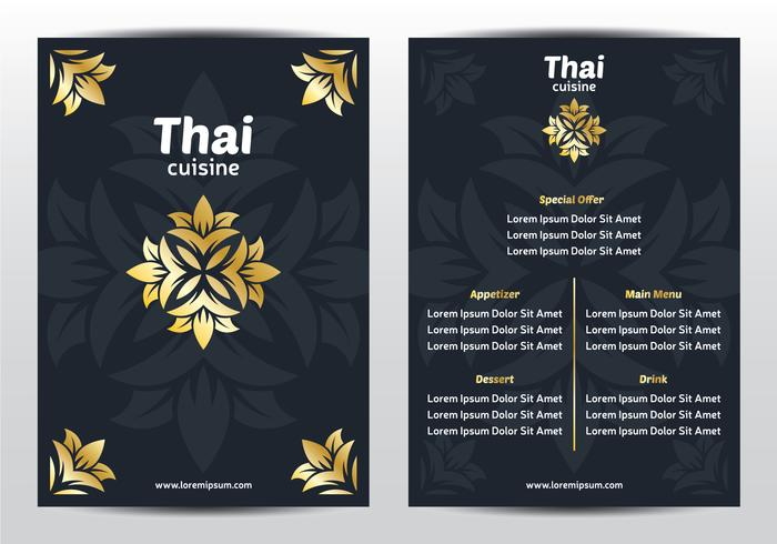 Elegant Thai Menu Template