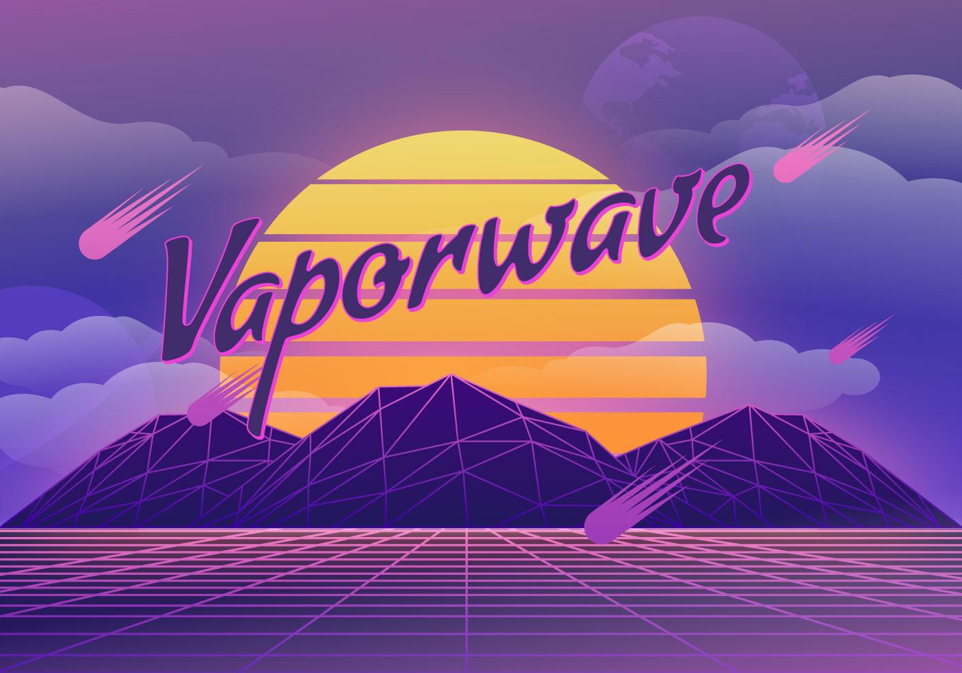 Vaporwave Background Illustration - Download Free Vectors ...