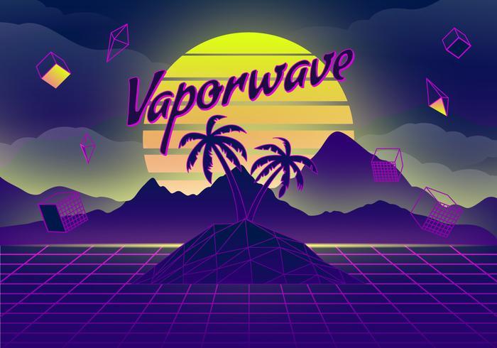 Illustration de fond Vaporwave vecteur
