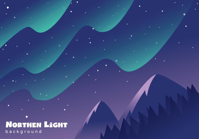 Beautiful Aurora Landscape - Download Free Vector Art, Stock Graphics & Images