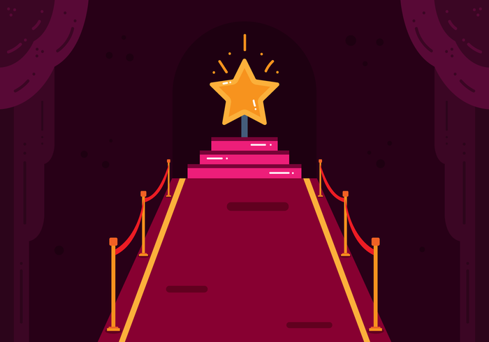 Hollywood Red Carpet Vector