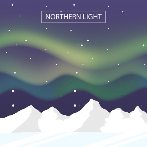 Northern Lights Landscape Vector Background