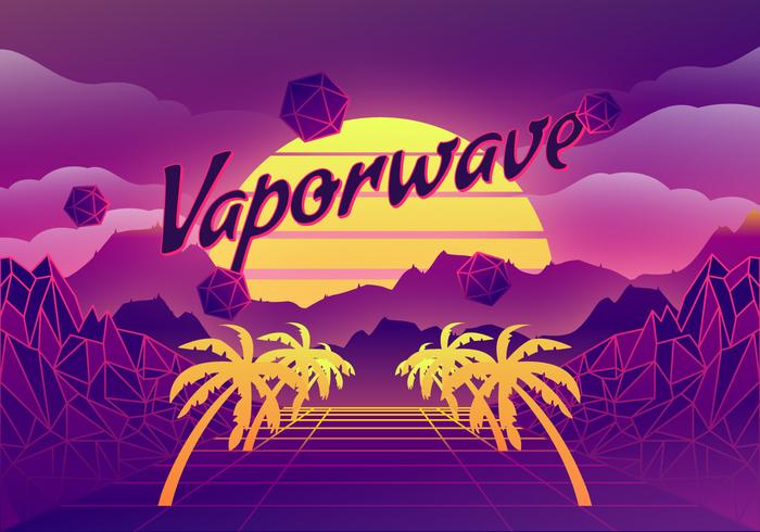 Vaporwave Background Illustration - Download Free Vectors