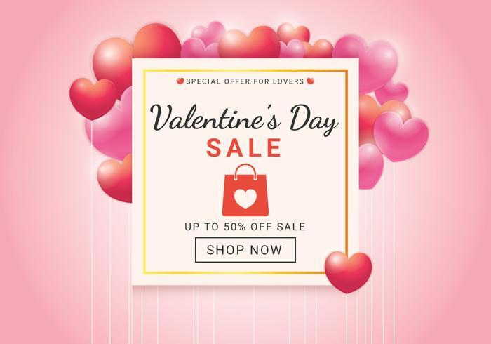 Valentijnsdag verkoop