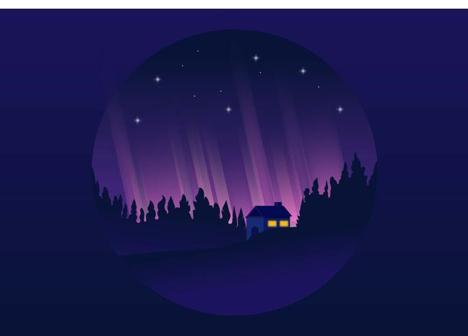 Forest House Vector