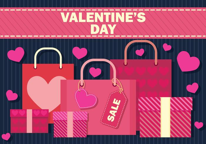 Valentine's Day Sale Vector Illustration