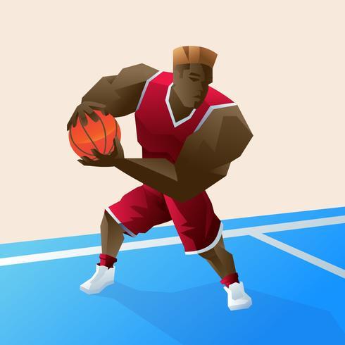Vecteur de joueur de basket-ball exagérée