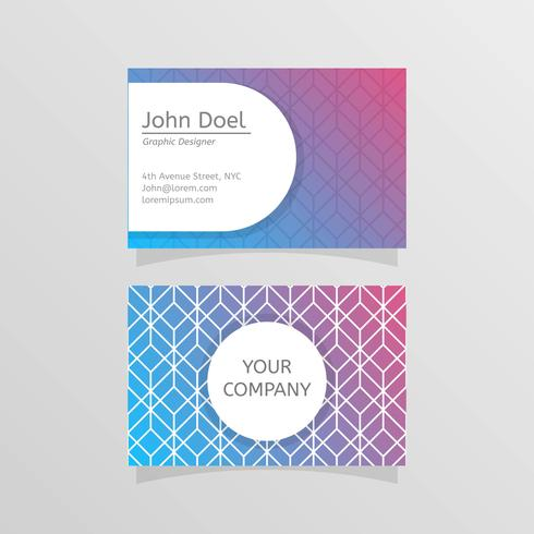 Flat Stylistic Graphic Designer Business Card Vector Template