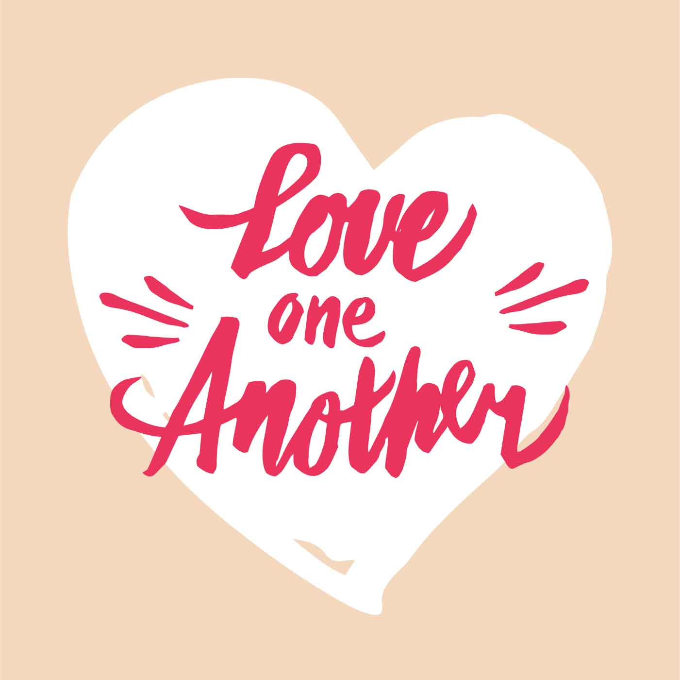 love one another hand lettered typography download free